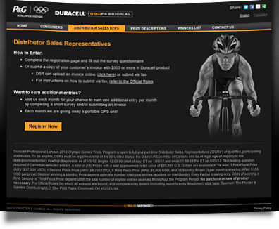 Web design duracell distributor