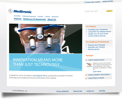 Web design medtronic banner2