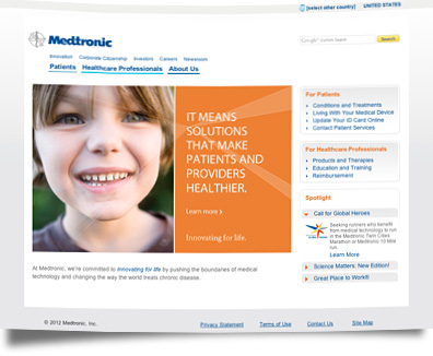 Web design medtronic banner3