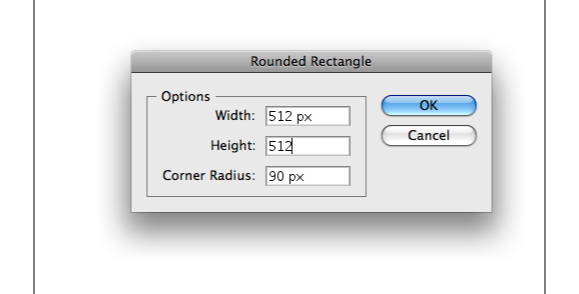 Rounded rectangle settings in Adobe Illustrator
